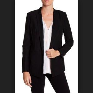 1.State Black Satin Back Crepe Blazer Size 8